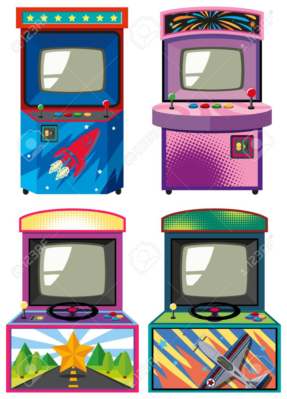 Cuatro De Diseno De Juegos Electronicos Gameboxes Ilustracion