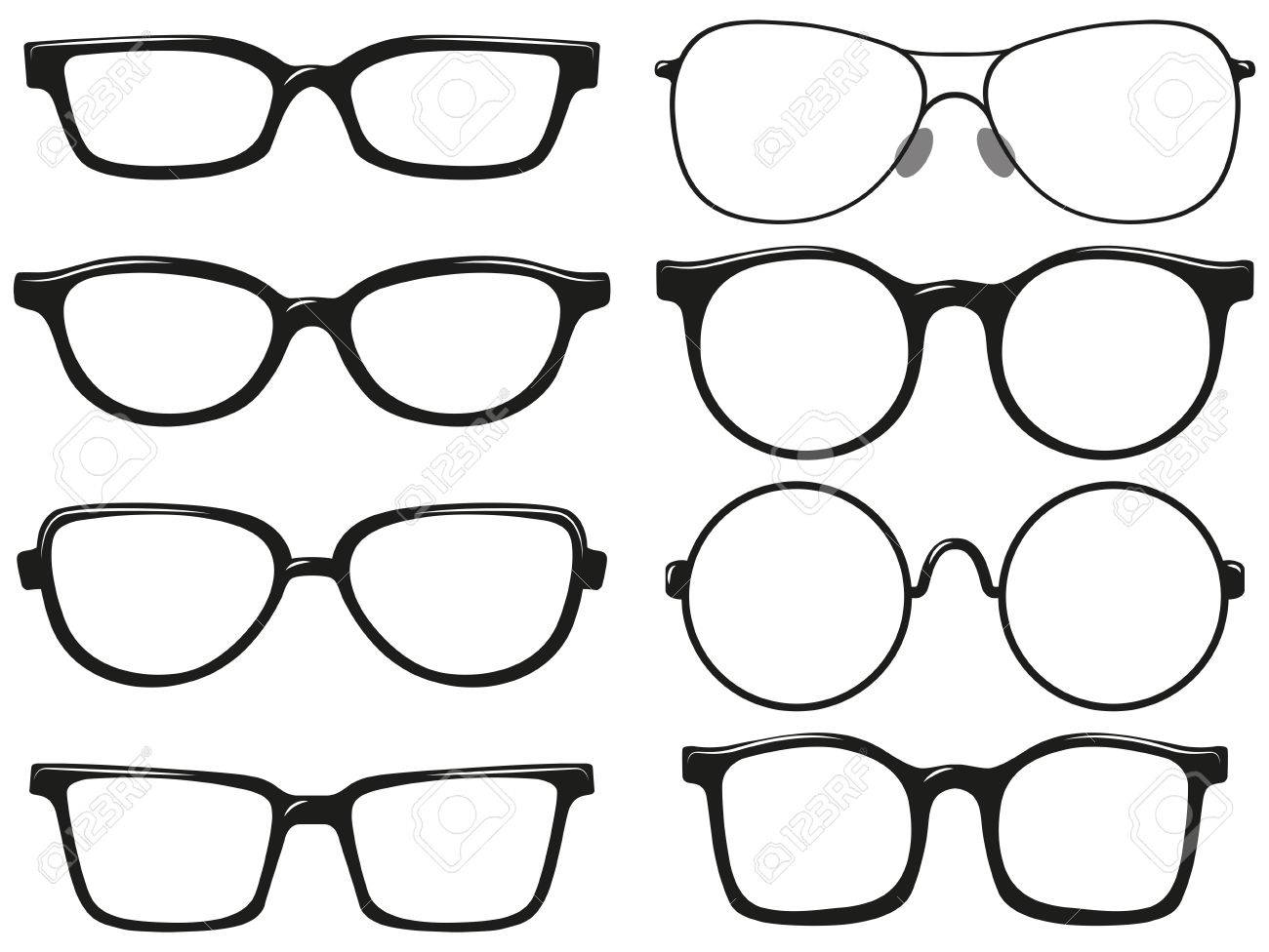 Different Design Of Eyeglasses Frames Illustration Royalty Free ...