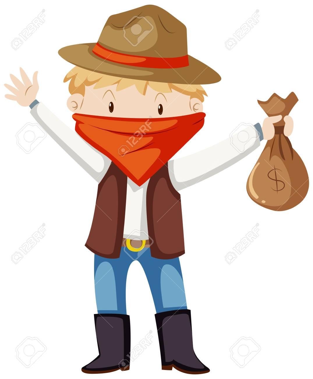 Kid in robber costume illustration Stock Vector - 66592803  sc 1 st  123RF.com & Kid In Robber Costume Illustration Royalty Free Cliparts Vectors ...