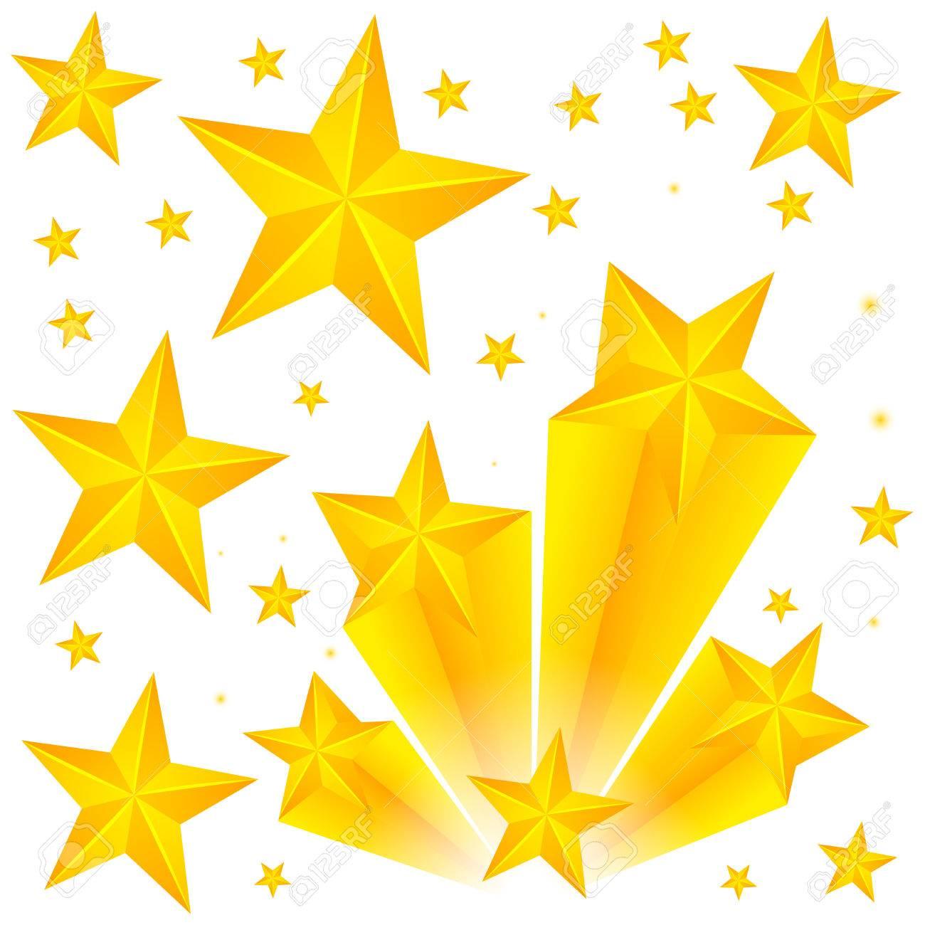 黄色の星イラスト背景デザイン ロイヤリティフリークリップアート