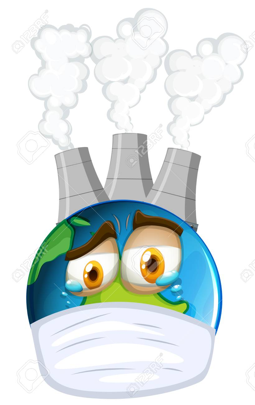 environmental theme with earth and air pollution illustration rh 123rf com air pollution clipart free air pollution causes clipart