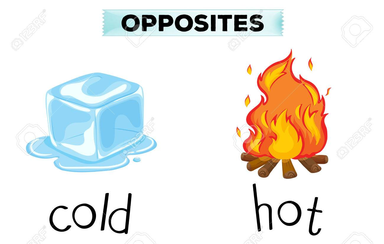 opposite words for cold and hot illustration royalty free cliparts rh 123rf com cold clipart png cold clip art free