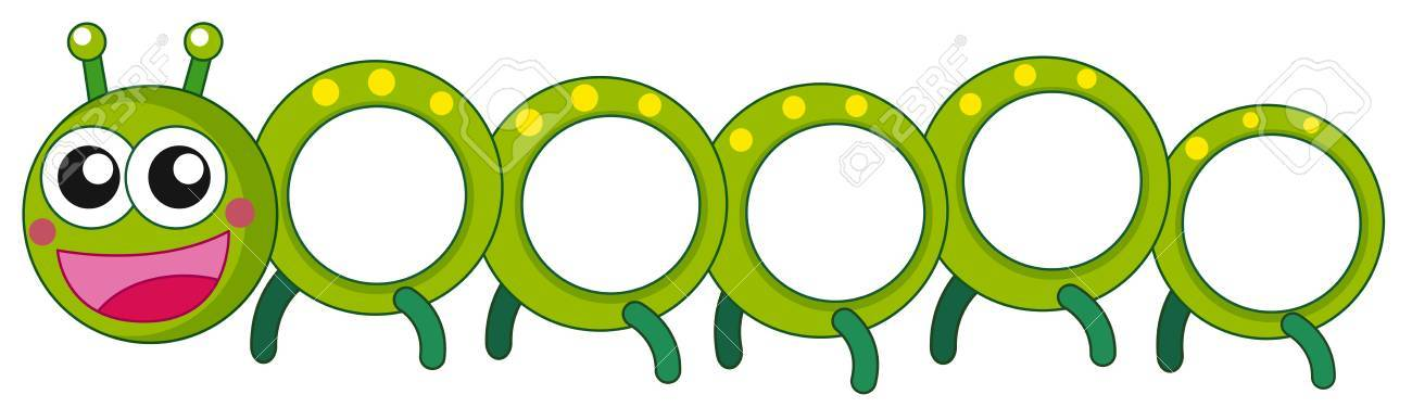 Caterpillar with happy face illustration - 74310717