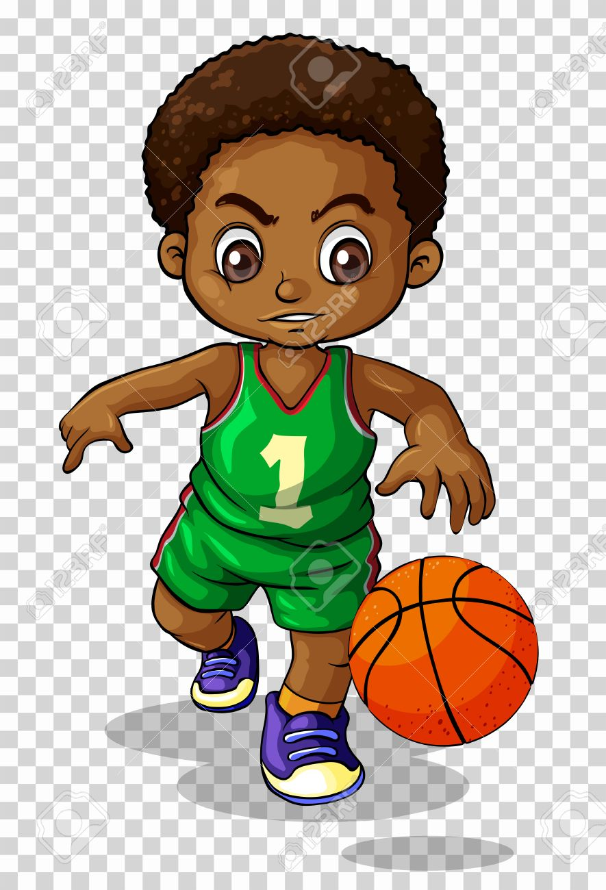 male basketball player on transparent background illustration rh 123rf com clipart pictures of basketball players clipart basketball player