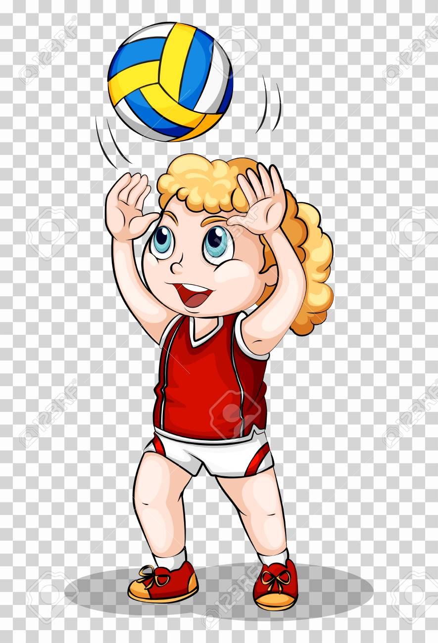 Girl Playing Volleyball On Transparent Background Illustration Royalty Free Cliparts Vectors And Stock Illustration Image 78000046