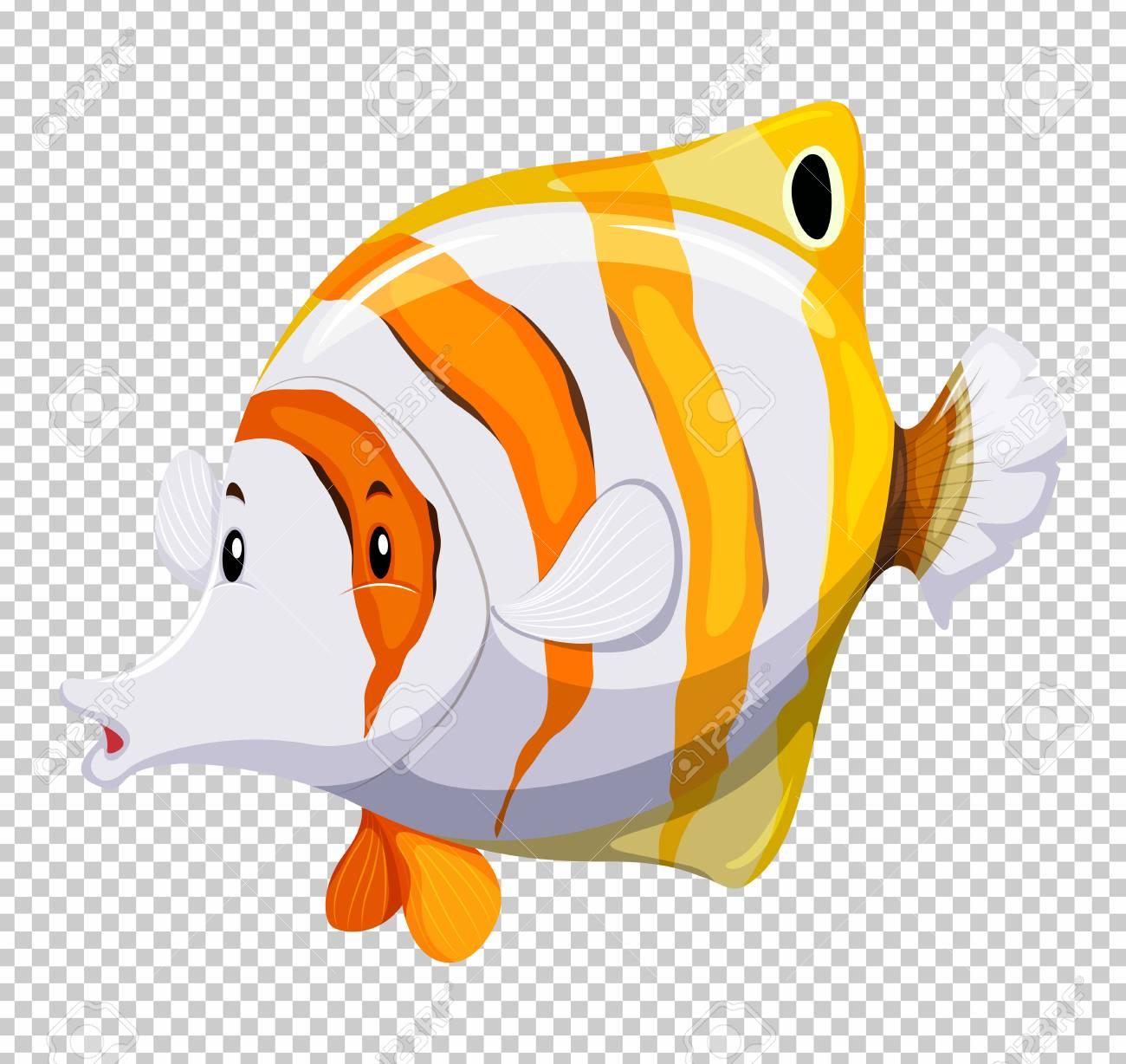 透明な背景イラストをかわいい魚のイラスト素材ベクタ Image 78000047