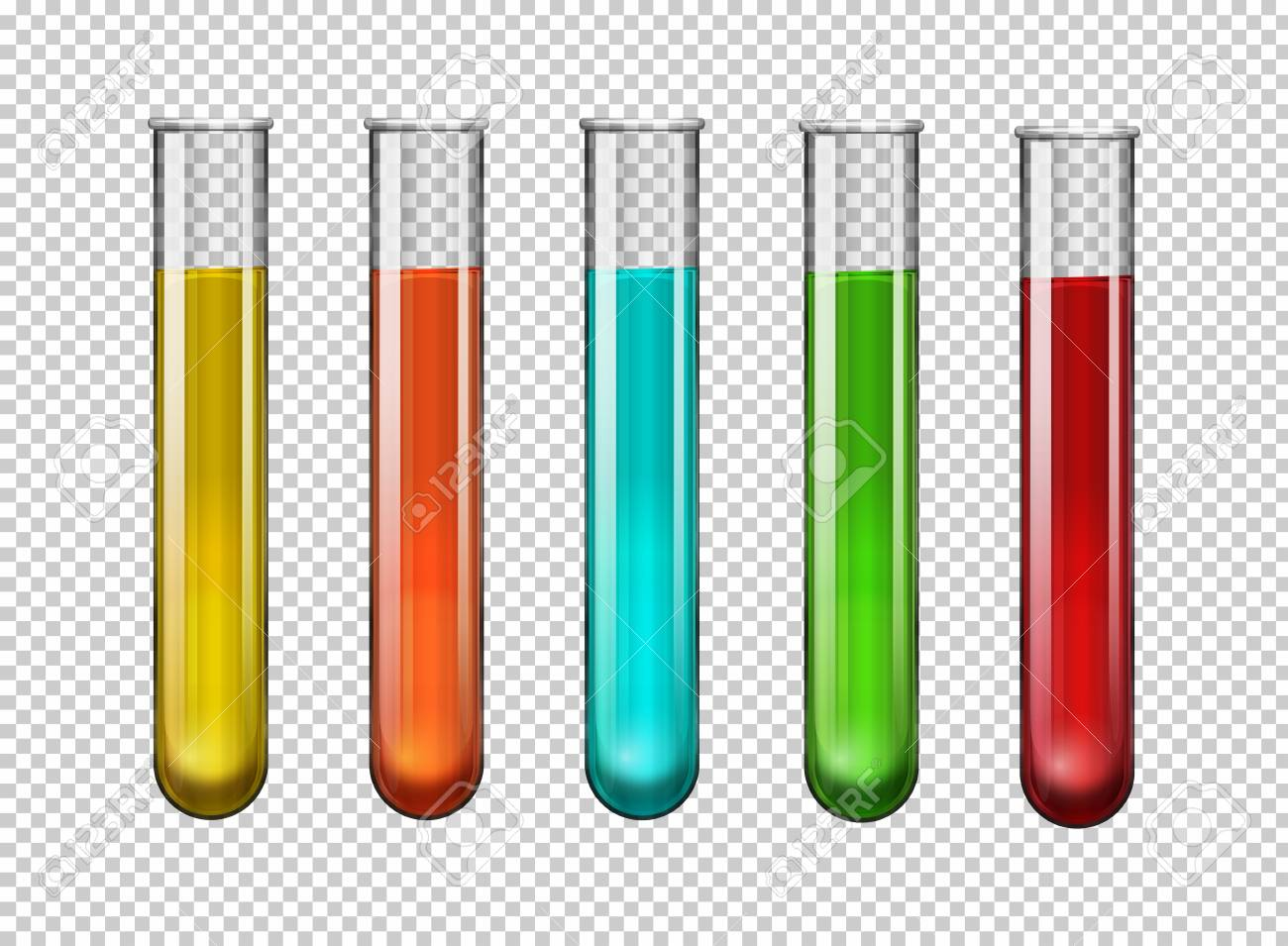 Colorful chemical in test tubes illustration - 77999807