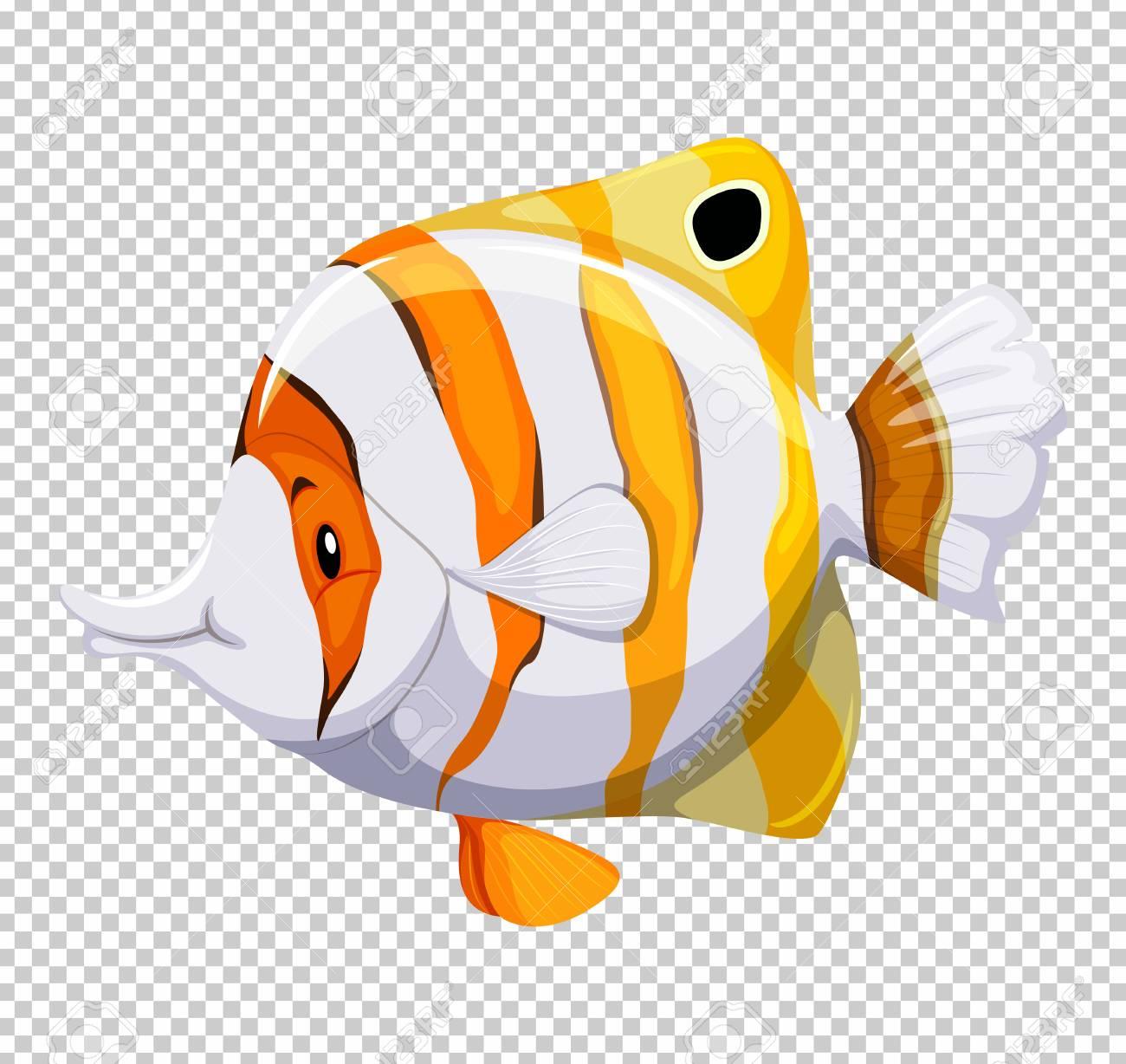 透明な背景イラストをかわいい魚のイラスト素材ベクタ Image 78784324