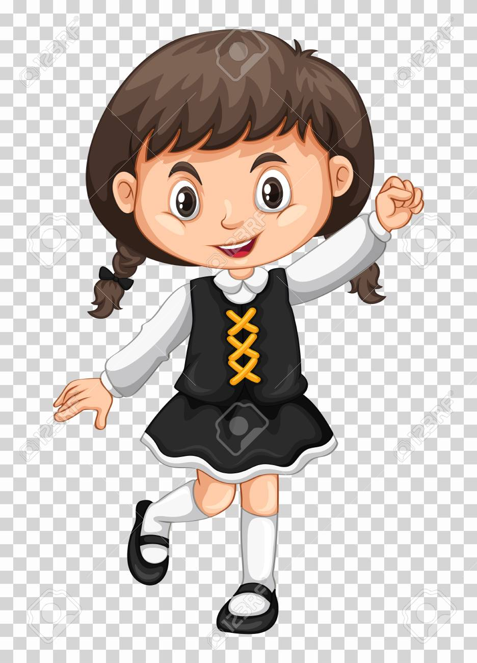 Cute Girl On Transparent Background Illustration Royalty Free Cliparts Vectors And Stock Illustration Image 78784576