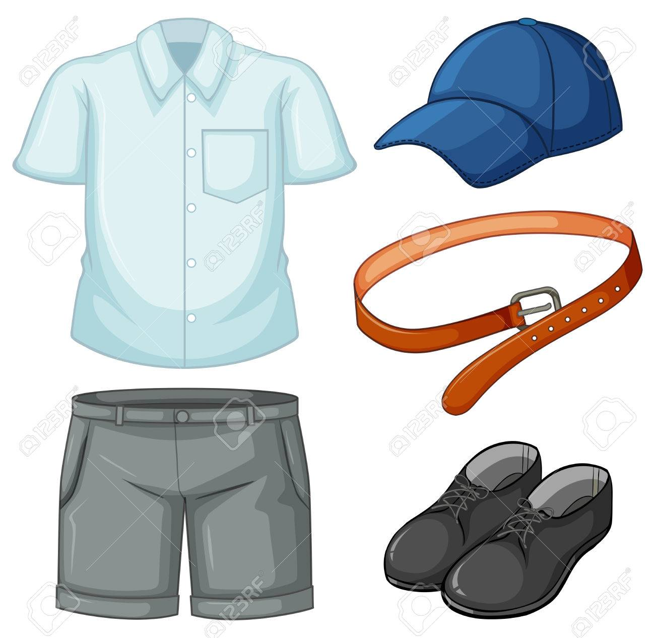 school uniform set on white background illustration royalty free rh 123rf com a schoolboy in uniform - clipart school uniform clipart free