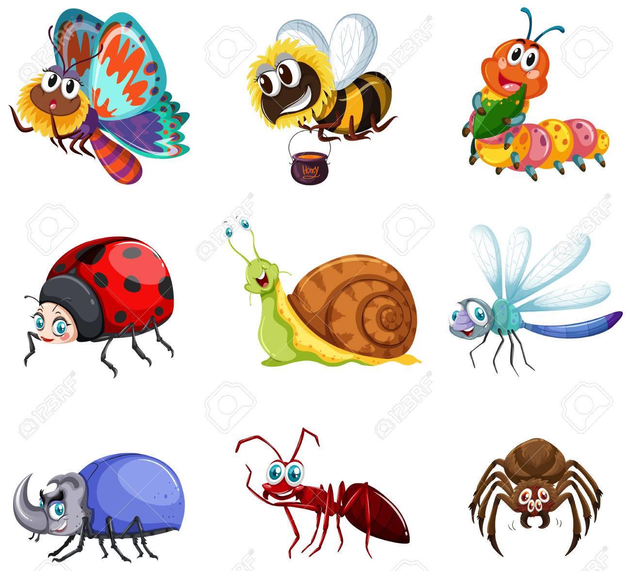 昆虫イラスト種類のイラスト素材ベクタ Image 83398908