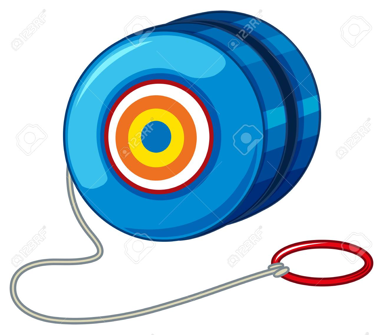 Blue Yo-yo With Red Ring Illustration Royalty Free Cliparts ... for Clipart Yoyo  588gtk