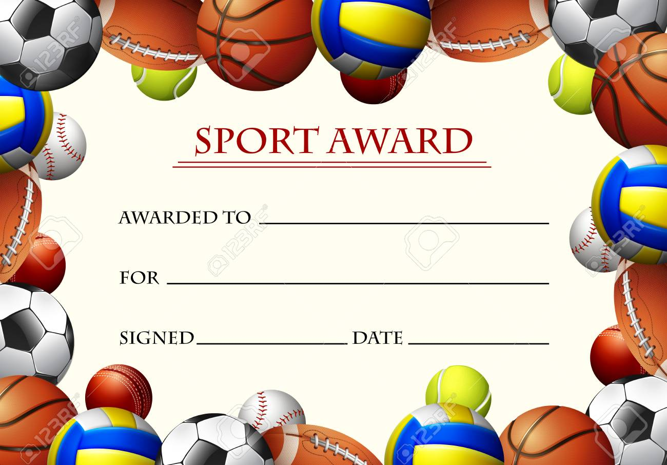 Certificate Template For Sport Award Illustration Royalty Free