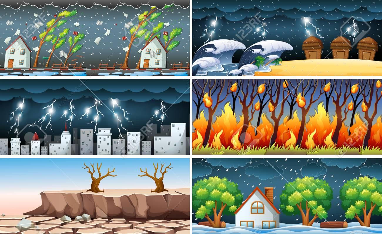 Natural Disaster illustration - 100160422