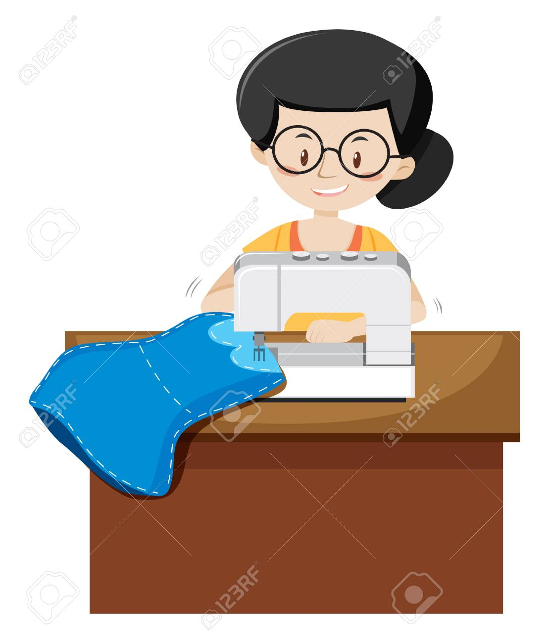 A Tailor on White Background illustration - 115065782