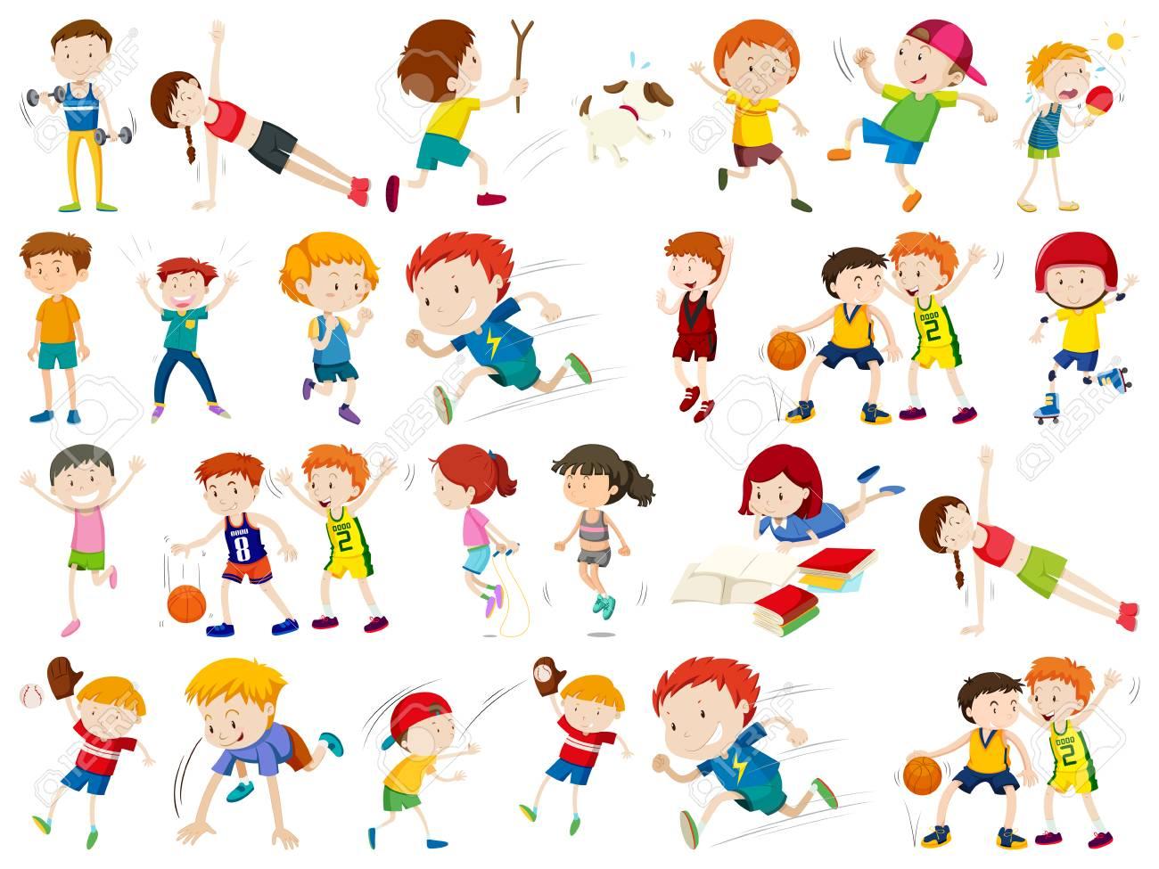 Set of sport character illustration - 123946865