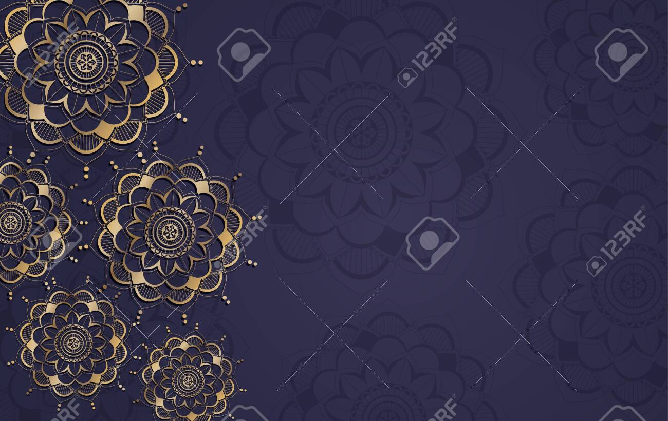 Background template with mandala pattern design illustration - 147068110