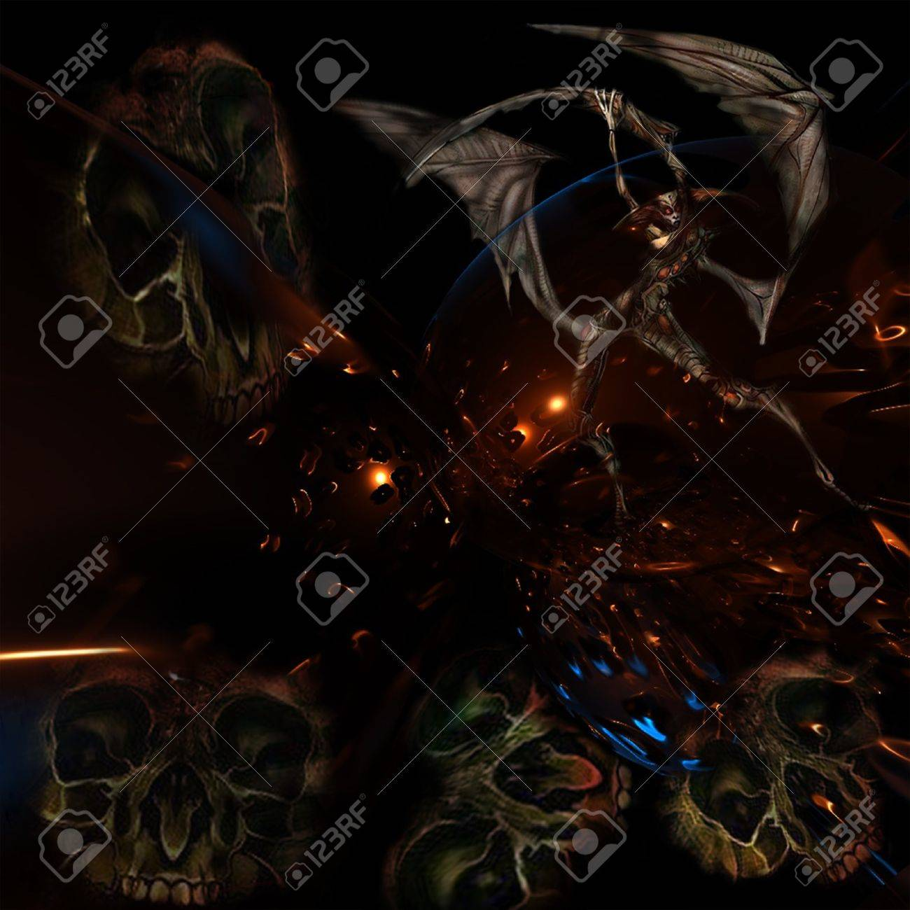 Gates of hell Stock Vector - 17631410