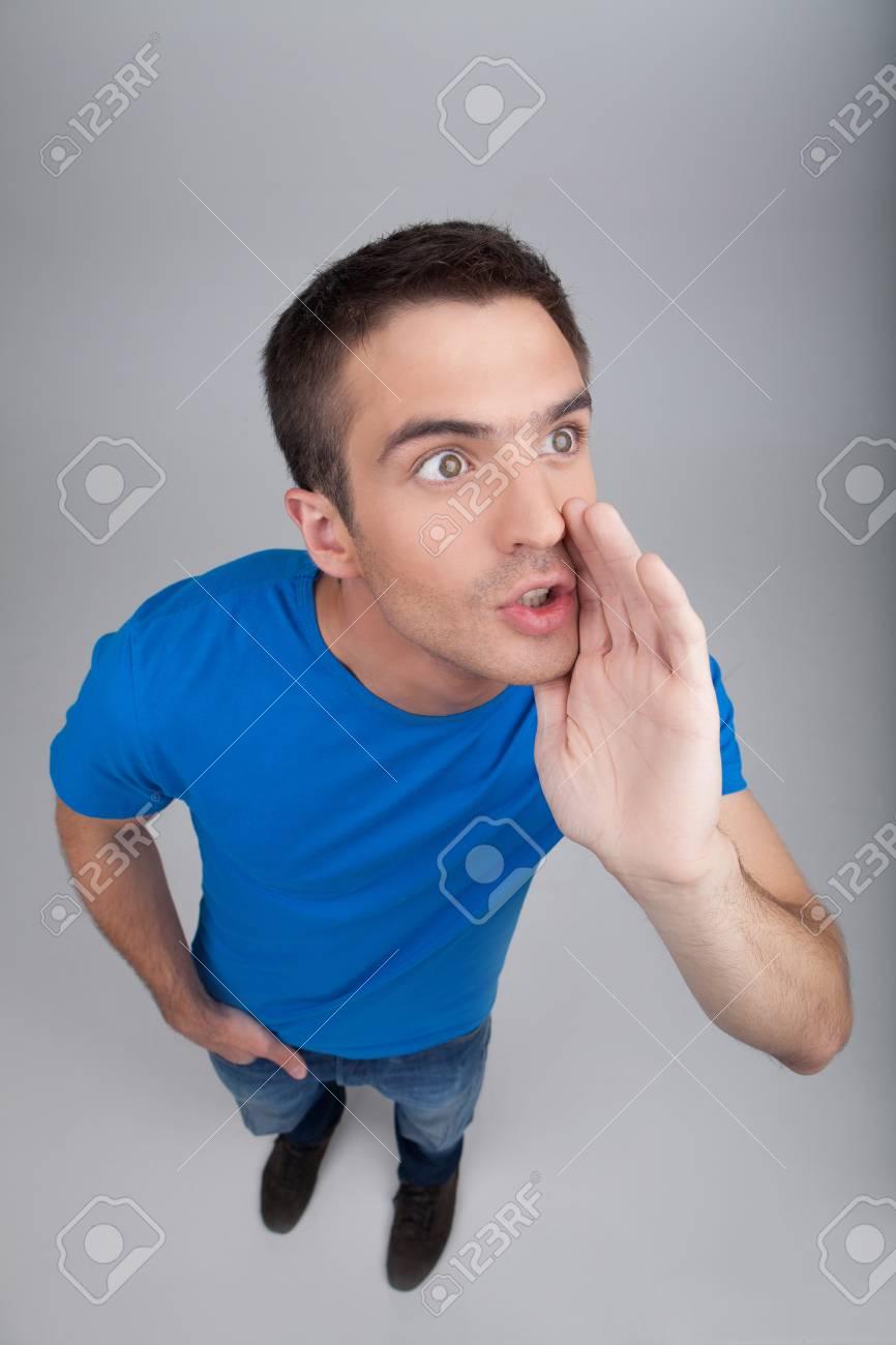 Männer Klatschend Draufsicht Auf Schöne Männer Junge Während