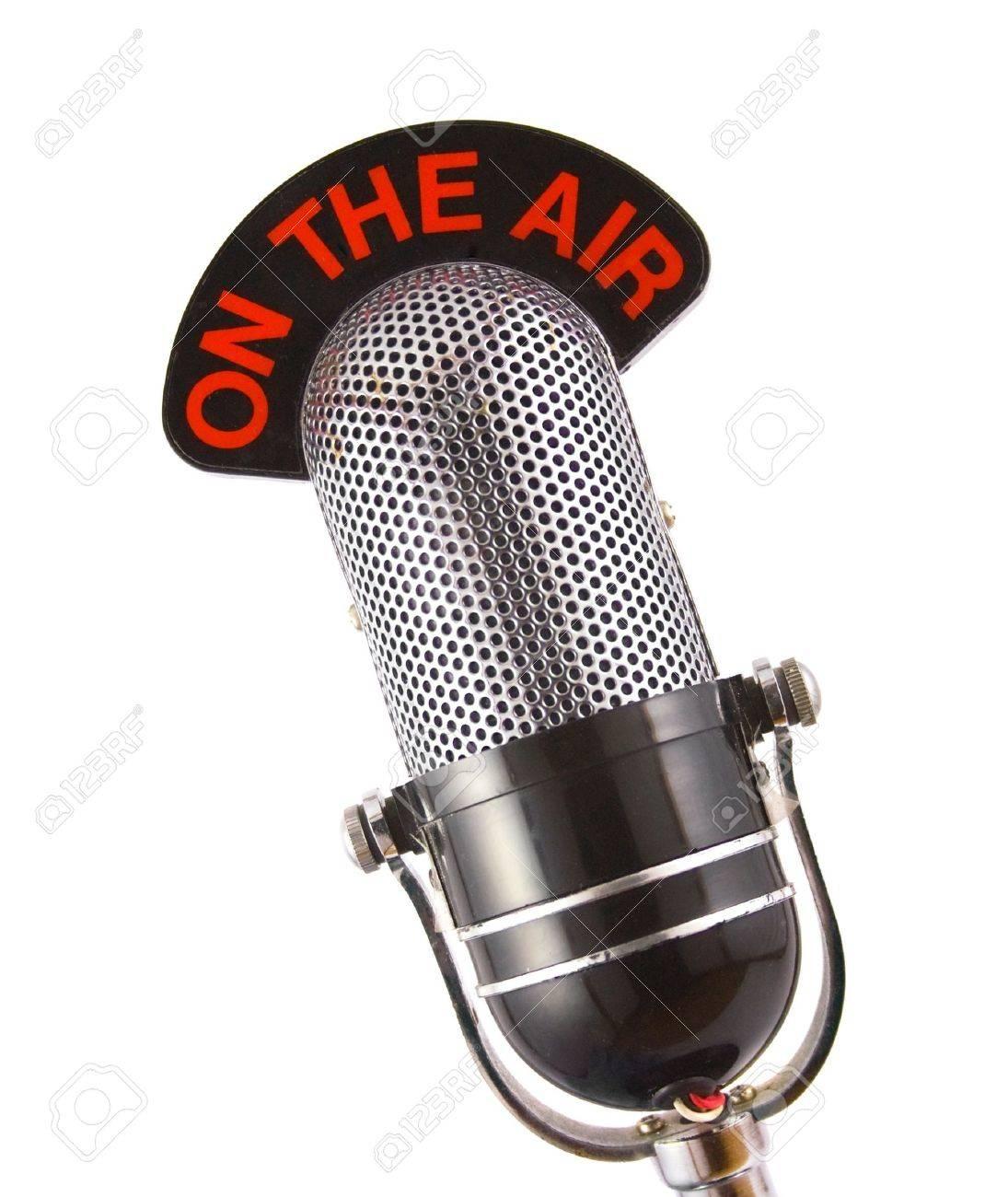 Retro microphone used for radio, talk back, news broadcasts Stock Photo - 2989704