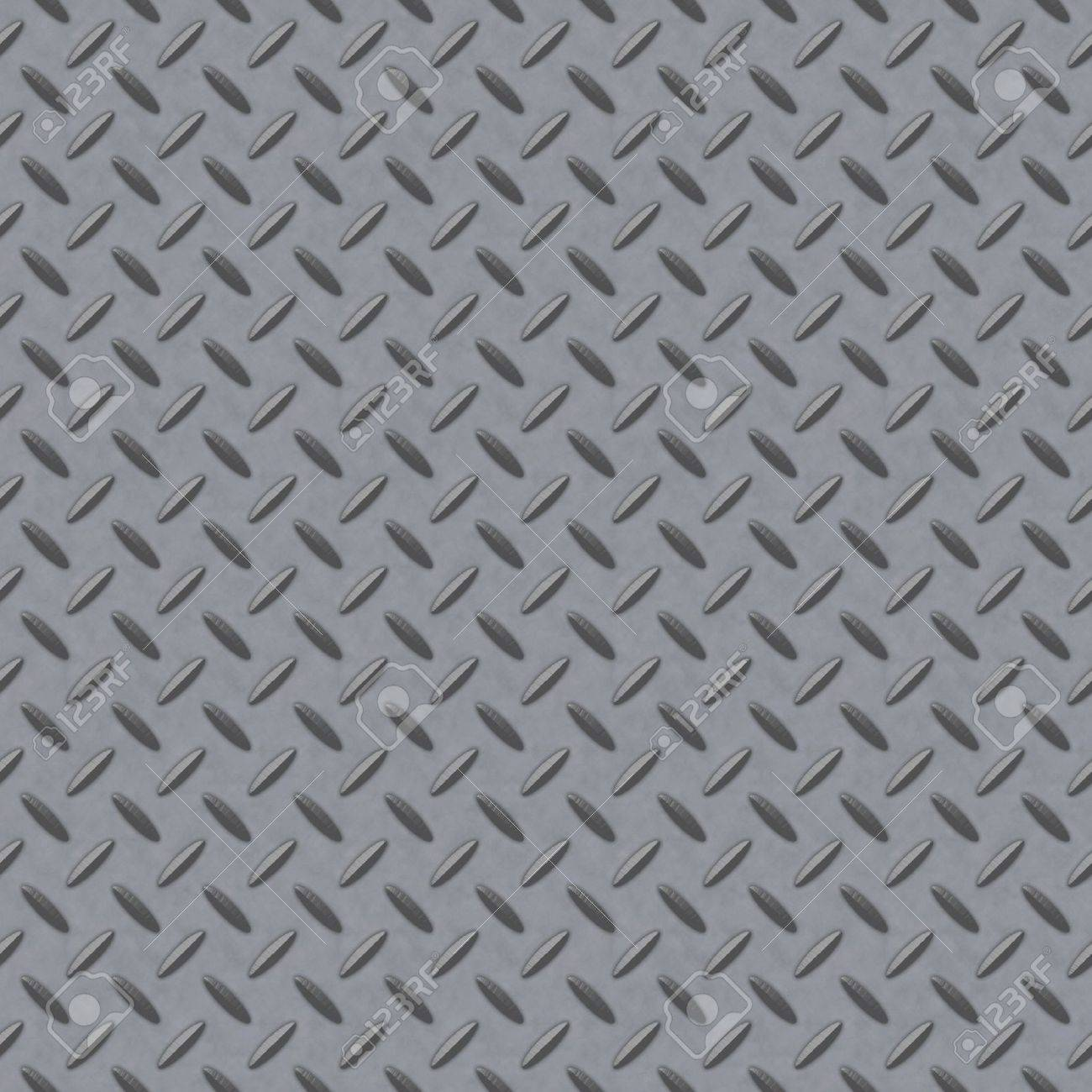 Checkerplate Metal Background Which Will Tile Seamlessly Stock Photo
