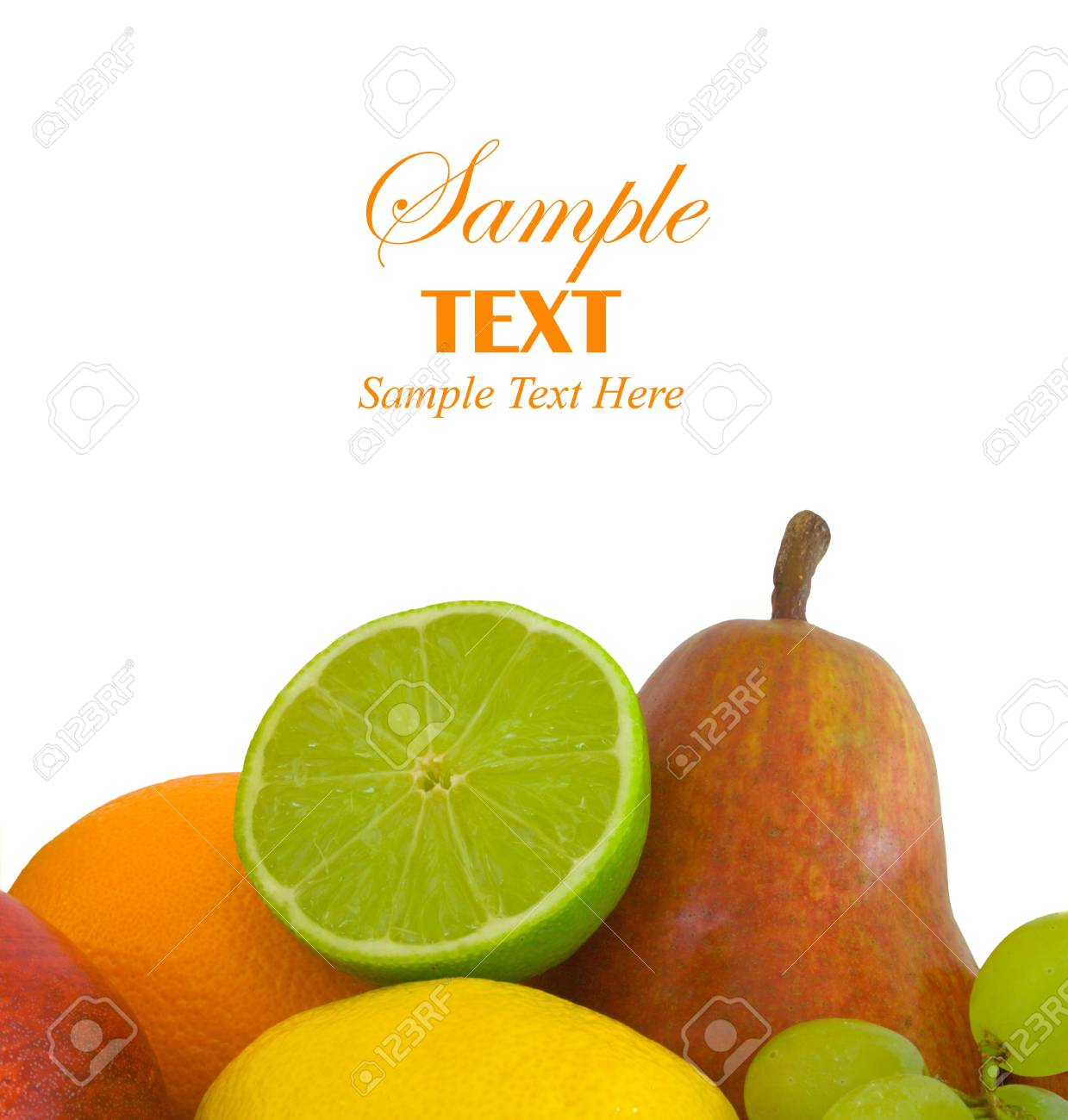 Fresh fruit selection with copy space for text Stock Photo - 3937523