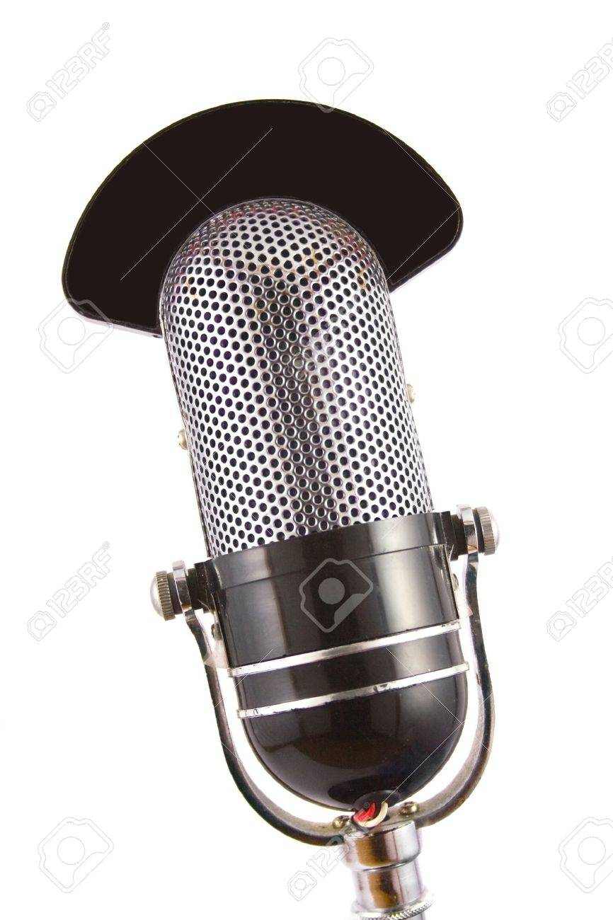 Retro microphone used for radio, talk back, news broadcasts Stock Photo - 4665162