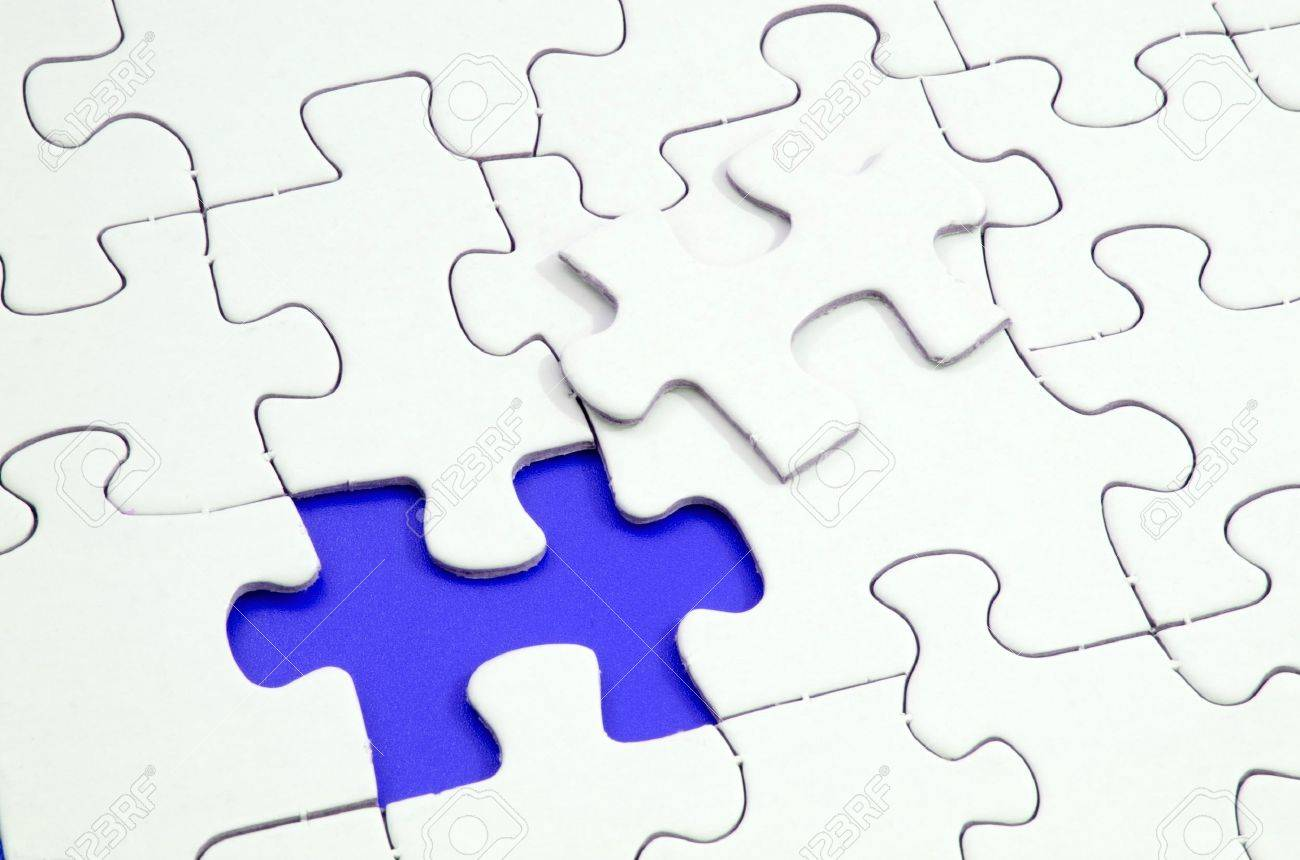 Jigsaw puzzle with a missing piece Stock Photo - 4852798