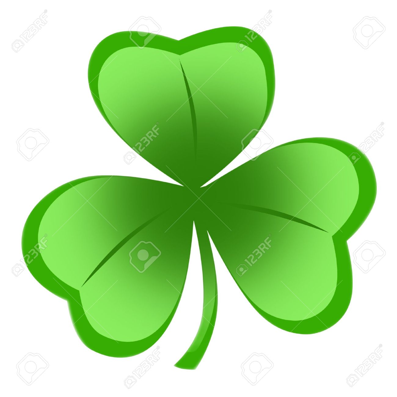 Irish shamrock ideal for St Patrick's Day isolated over white background Stock Photo - 6484505