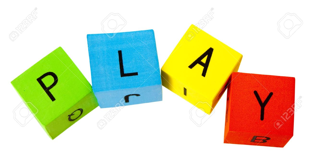 Alphabet Building Blocks creating words Stock Photo - 6708893