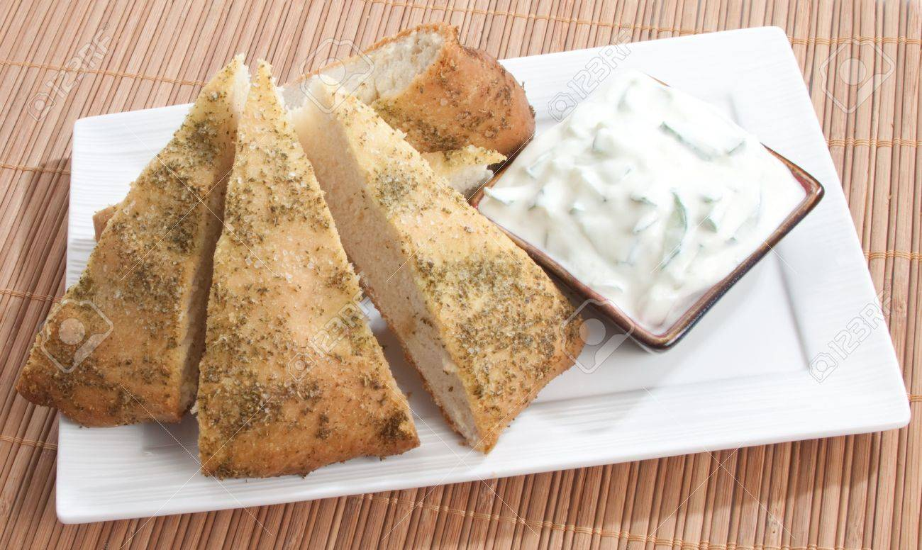 Slices of freshly baked focaccia bread Stock Photo - 6828315