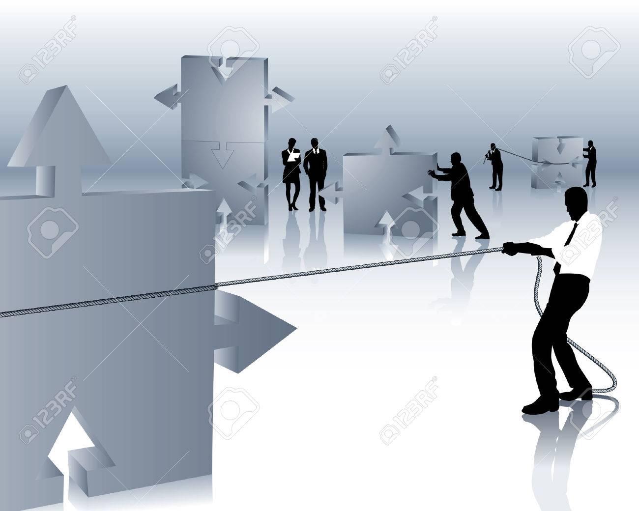 teamwork Stock Vector - 4696869
