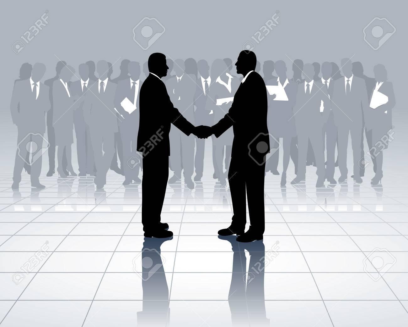 business transaction Stock Vector - 4792542