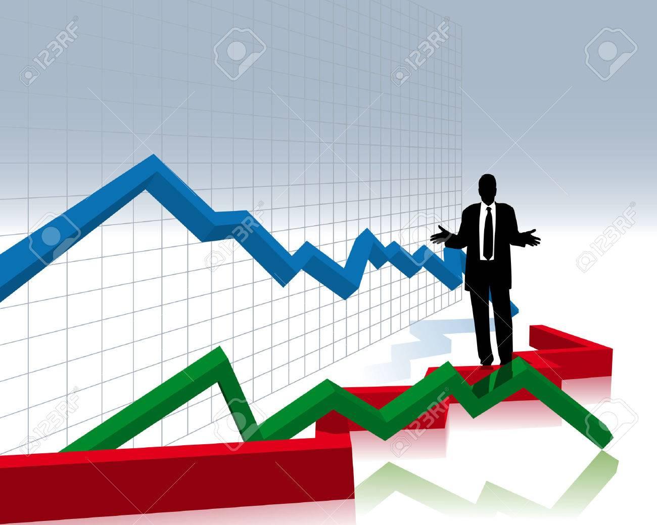 financial crash Stock Vector - 5004107
