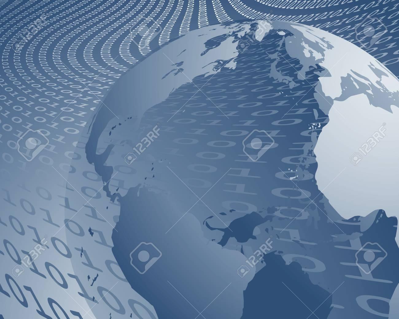 world wide data transfer Stock Vector - 5205741