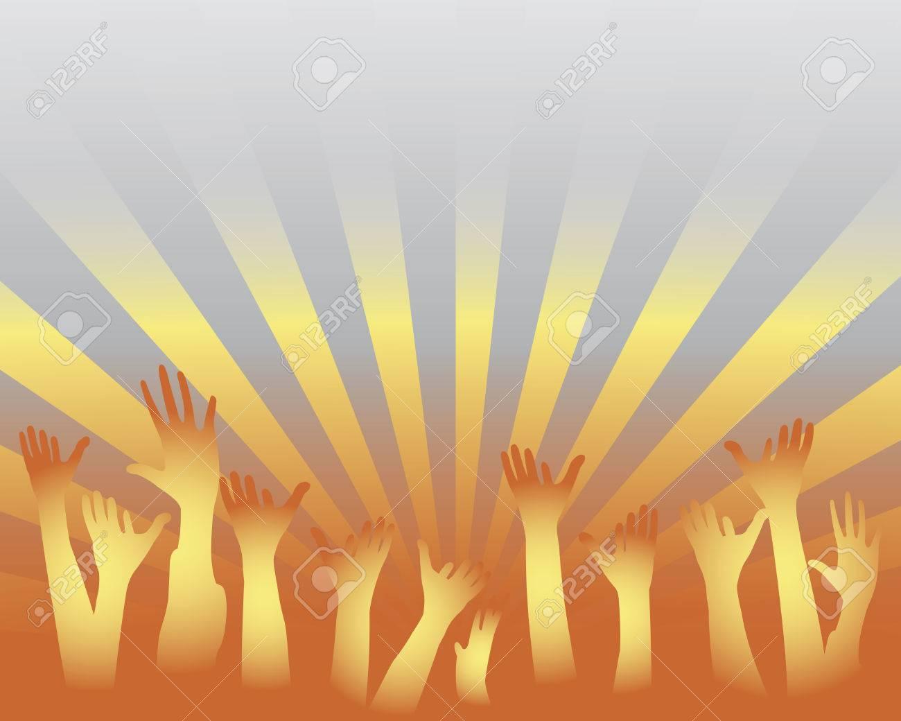 cheering audience Stock Vector - 5330407