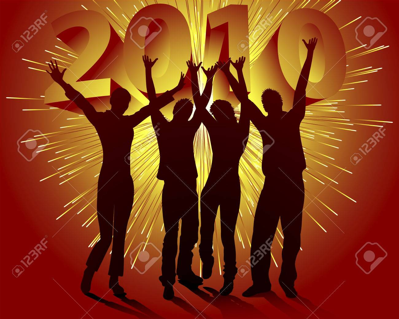 New Year's Eve 2010 Stock Vector - 5692632