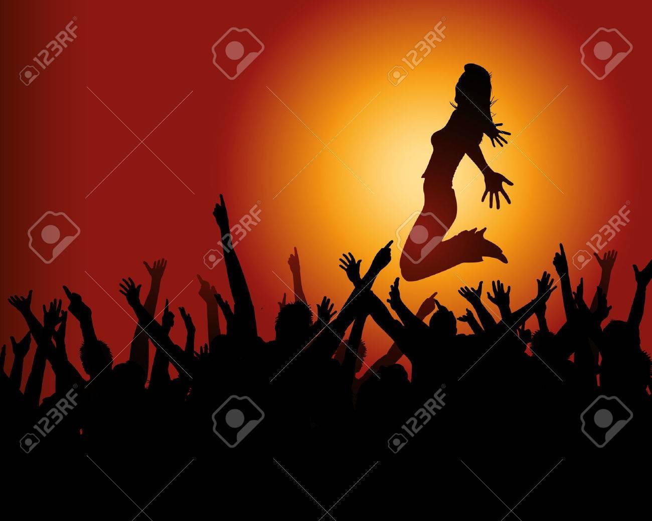 Jubilant Crowd Star And Jubilant Crowd Free