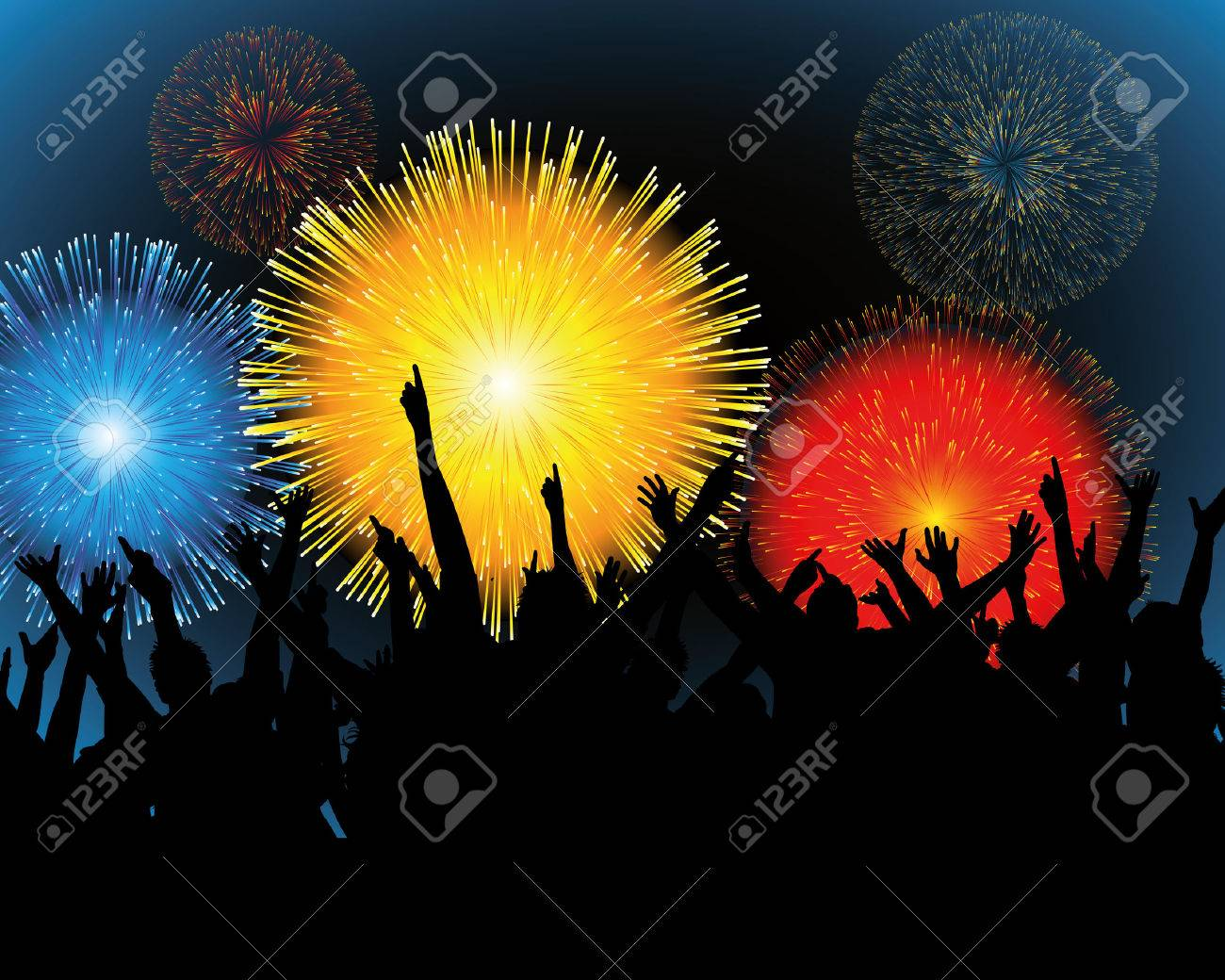 illustration of Fireworks and a festival Stock Vector - 7701472