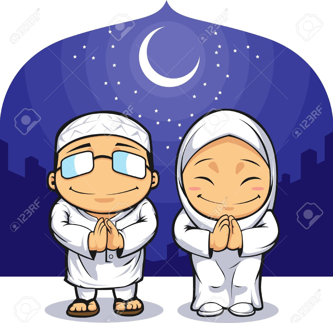 Cartoon of muslim man woman greeting ramadan royalty free cliparts cartoon of muslim man woman greeting ramadan stock vector 16899847 m4hsunfo