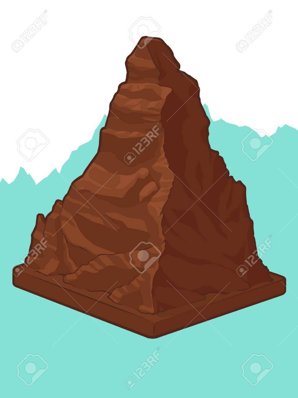 Swiss Chocolate in Matterhorn shape Stock Vector - 16899910