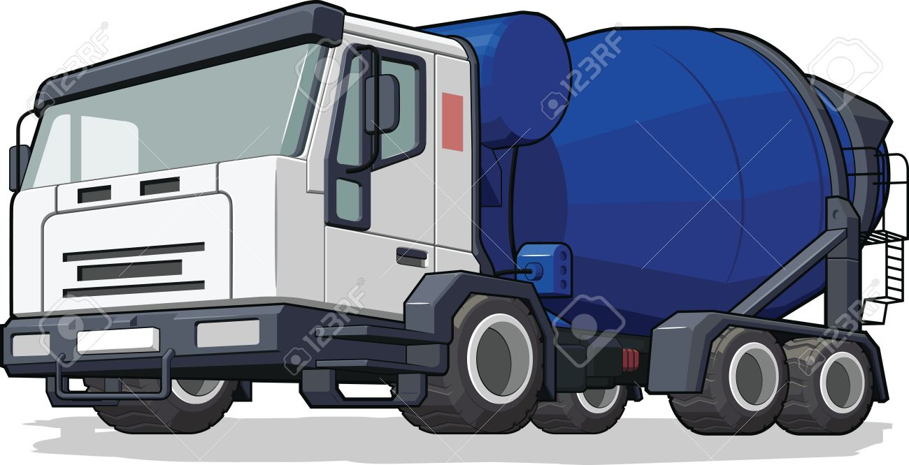 71 cement truck pouring stock vector illustration and royalty free