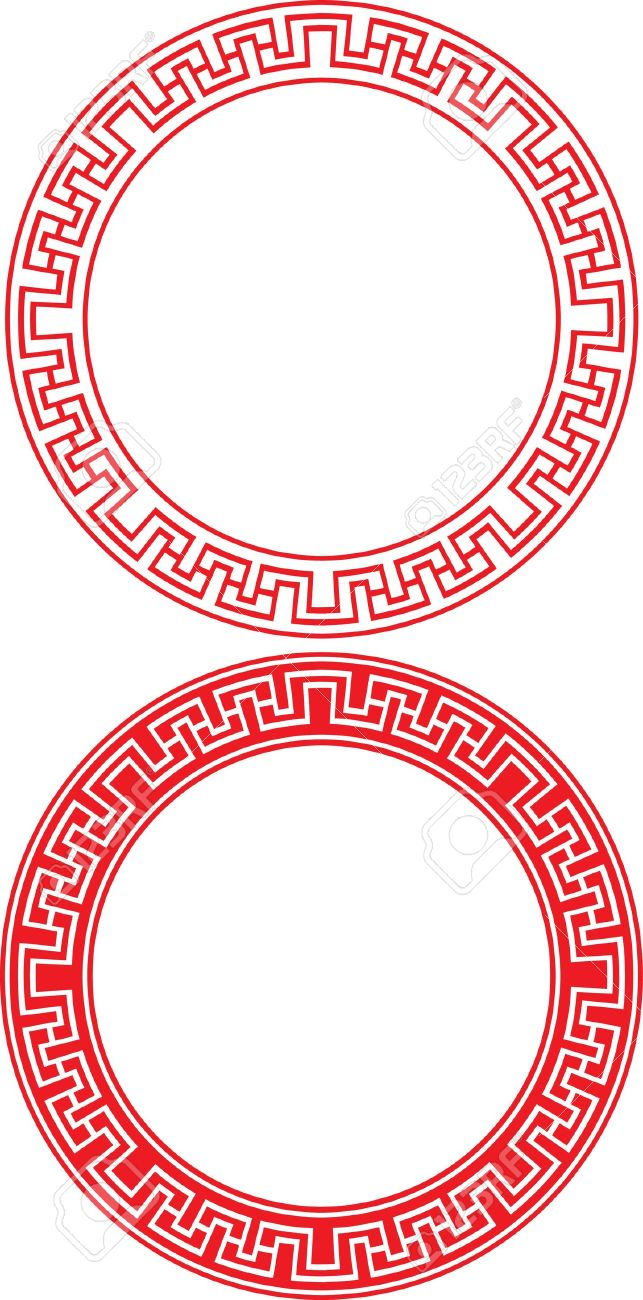 Chinese Circle Ornament Royalty Free Cliparts, Vectors, And Stock ...