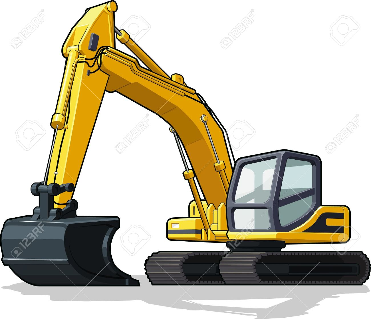 2 686 excavator bucket stock illustrations cliparts and royalty