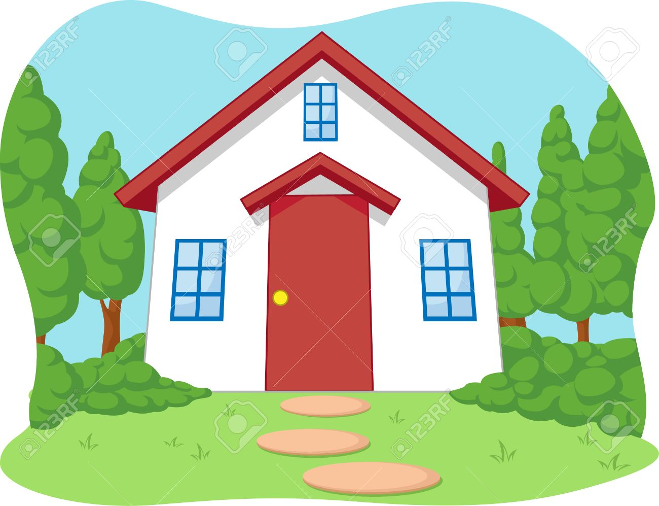 Cute House Cartoon Cartoon of Cute Little House
