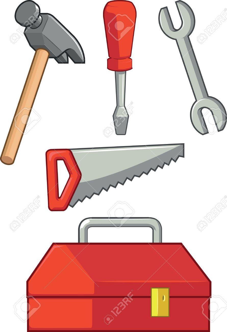 Tools Clipart Hand Tool Clip Art Caliper Coping Saw Hammer   Etsy