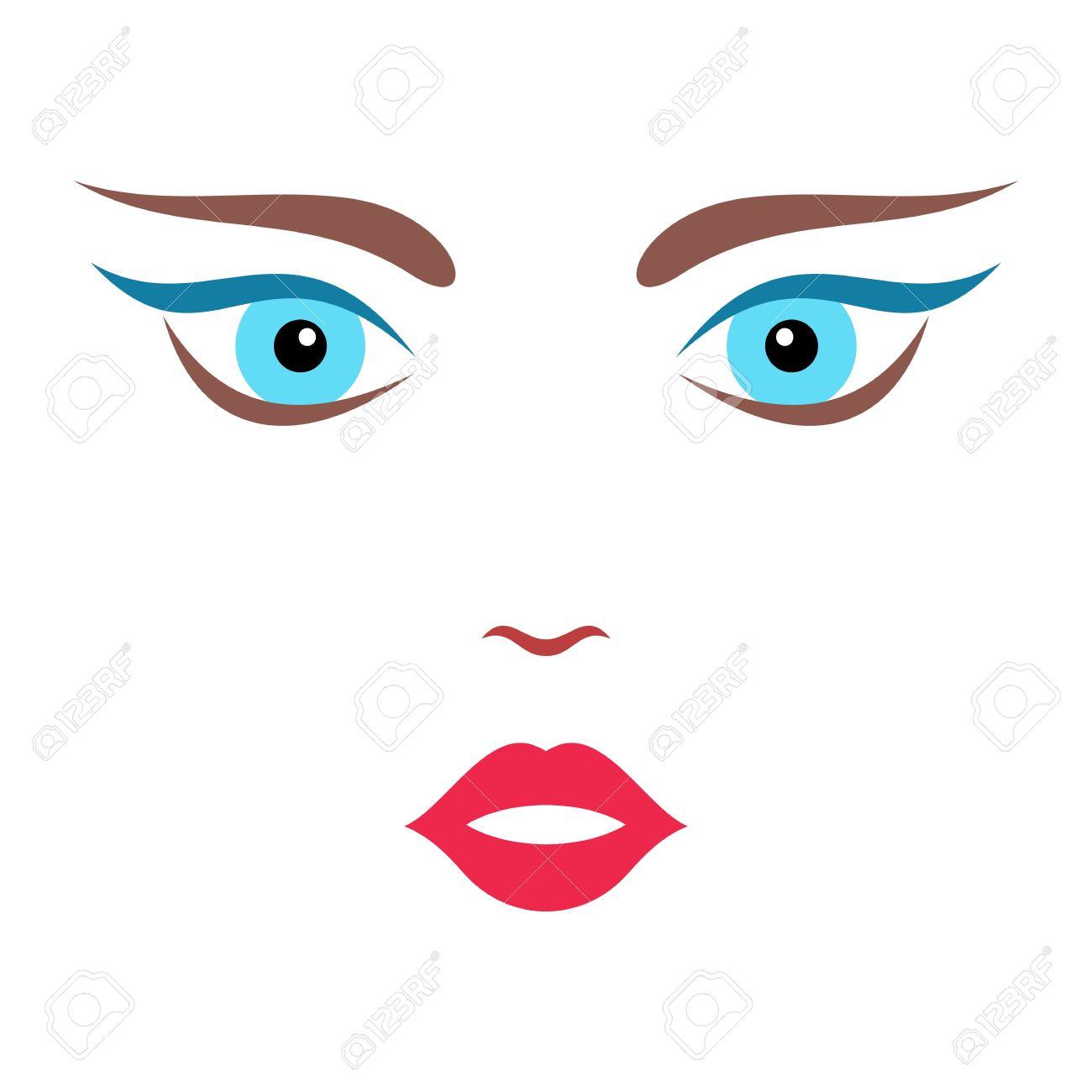 beautiful cartoon colorful woman face vector illustration royalty rh 123rf com cartoon woman face vector cartoon woman face illustration