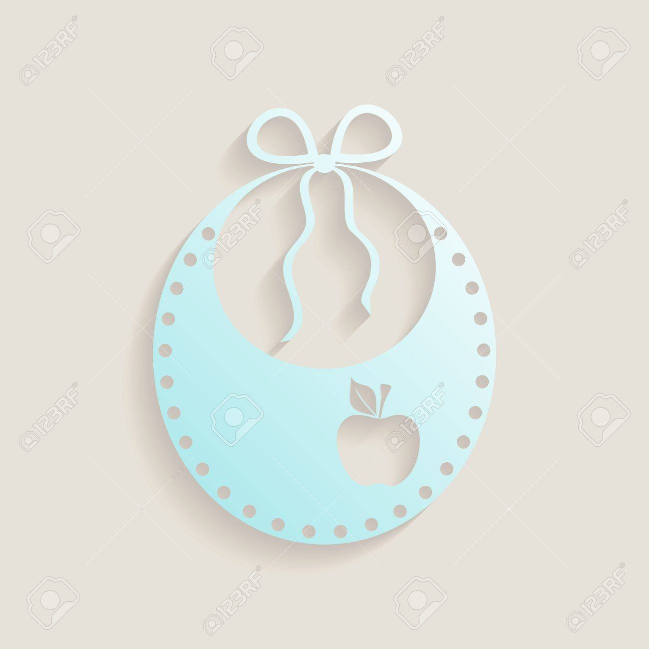 Simple Baby Shower Invitation Card With Baby Bib Stock Vector   28924254