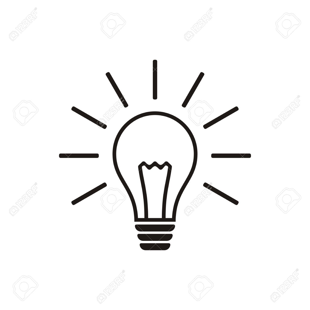 Simple Black Light Bulb Vector Icon Isolated Royalty Free Cliparts ... for Black Light Bulb Clip Art  61obs