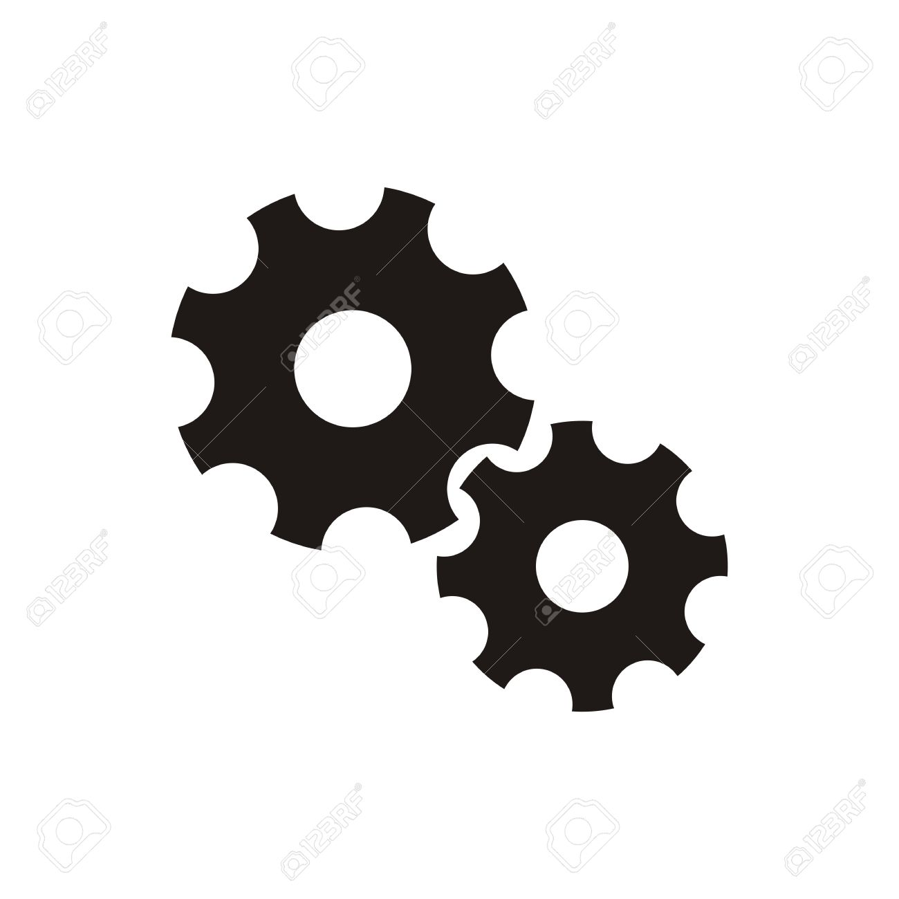 simple black gear wheels icon isolated royalty free cliparts rh 123rf com gear icon vector free